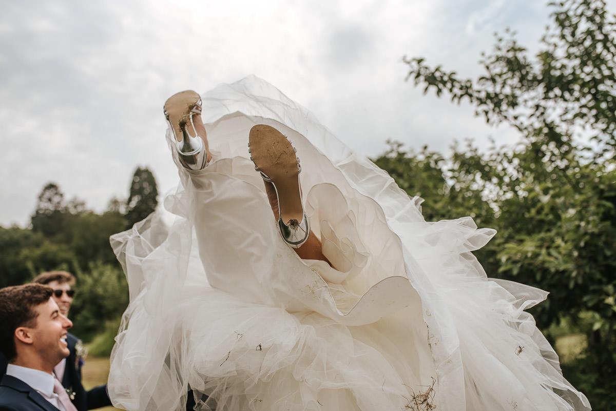 kent wedding photography bride flying