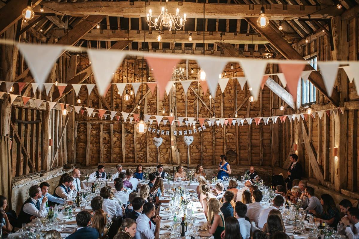great barn rolvenden wedding interior