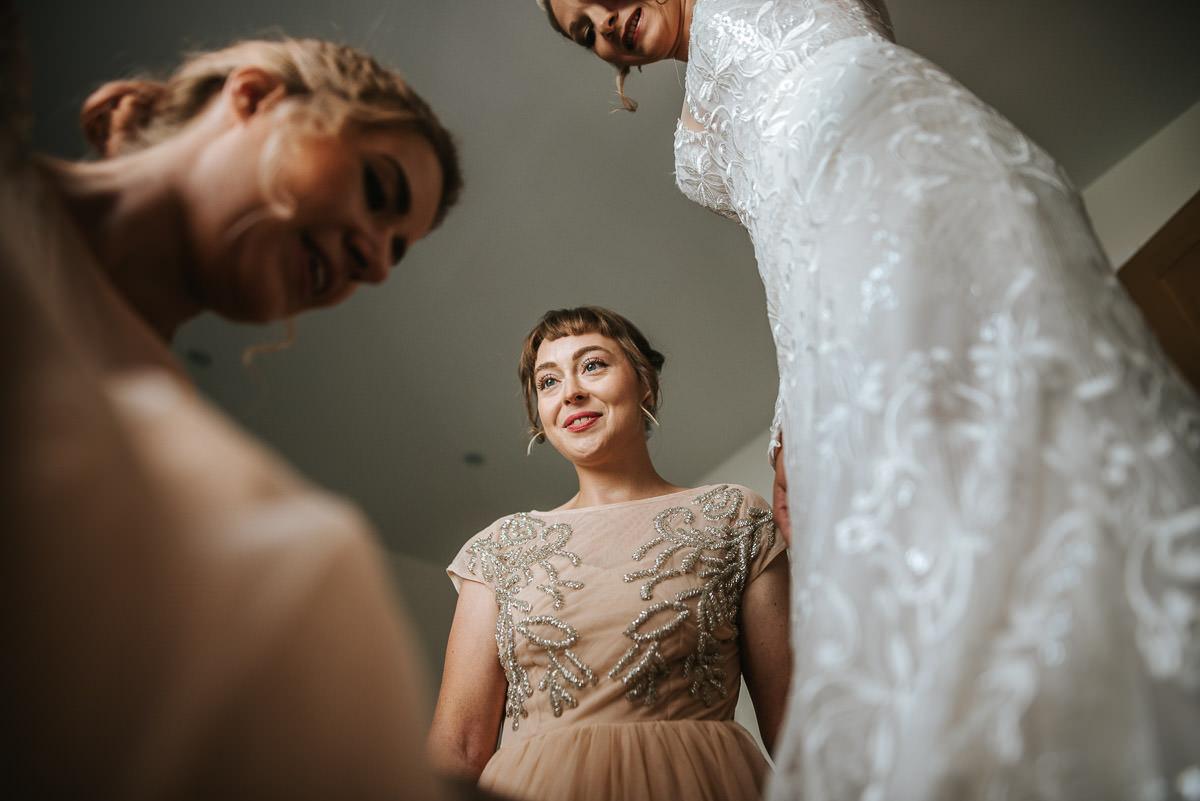 islington town hall wedding photography proud bridesmaid