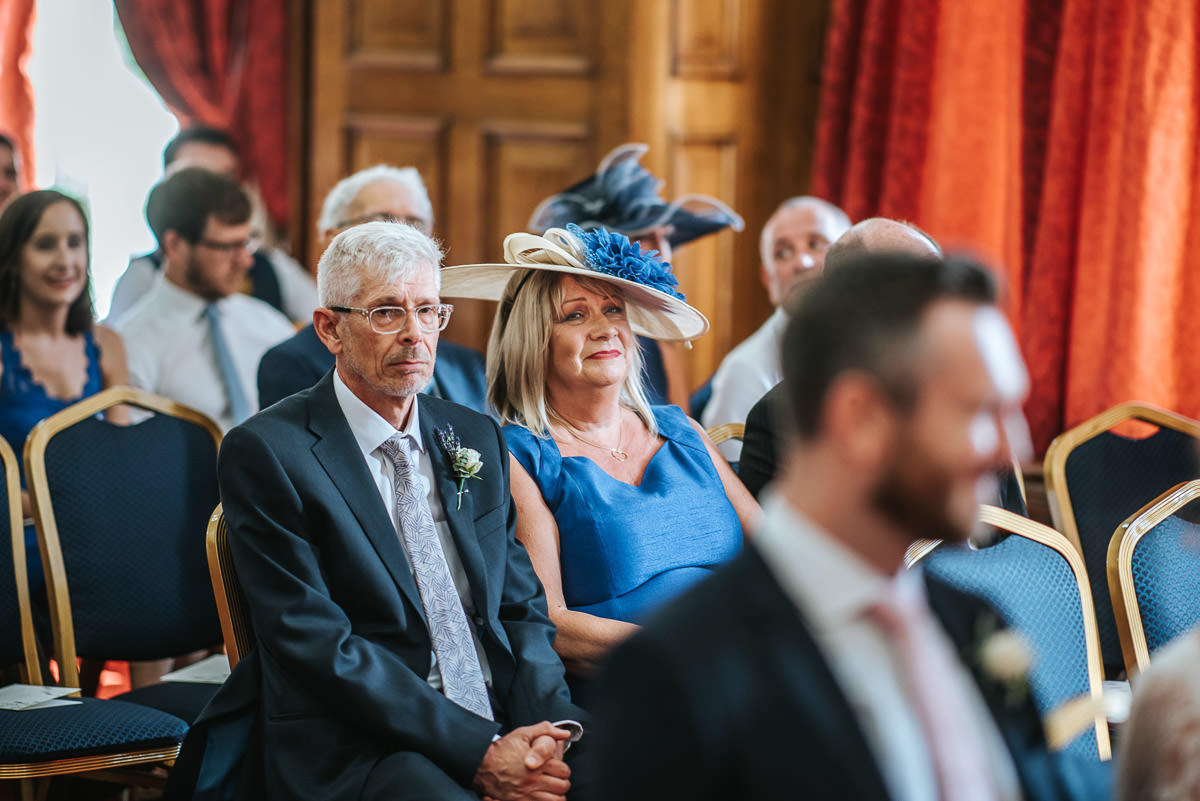 islington town hall wedding parents of the bride crying