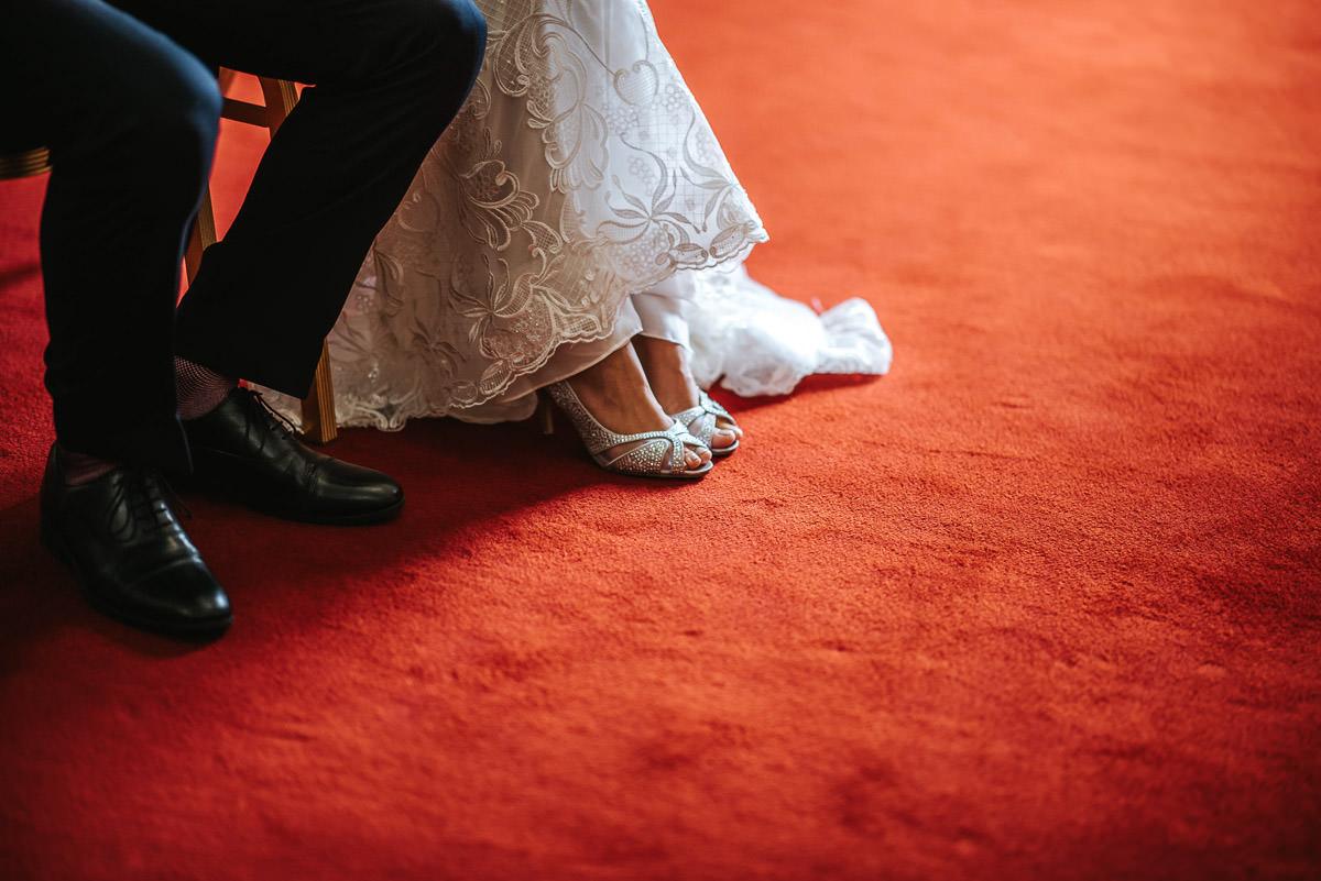islington town hall wedding brides shoes