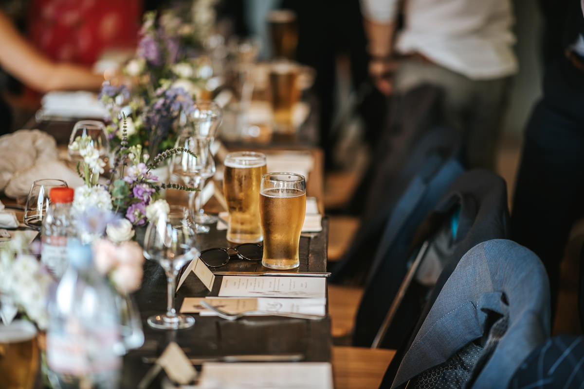 islington town hall wedding brookmill pub reception table decor