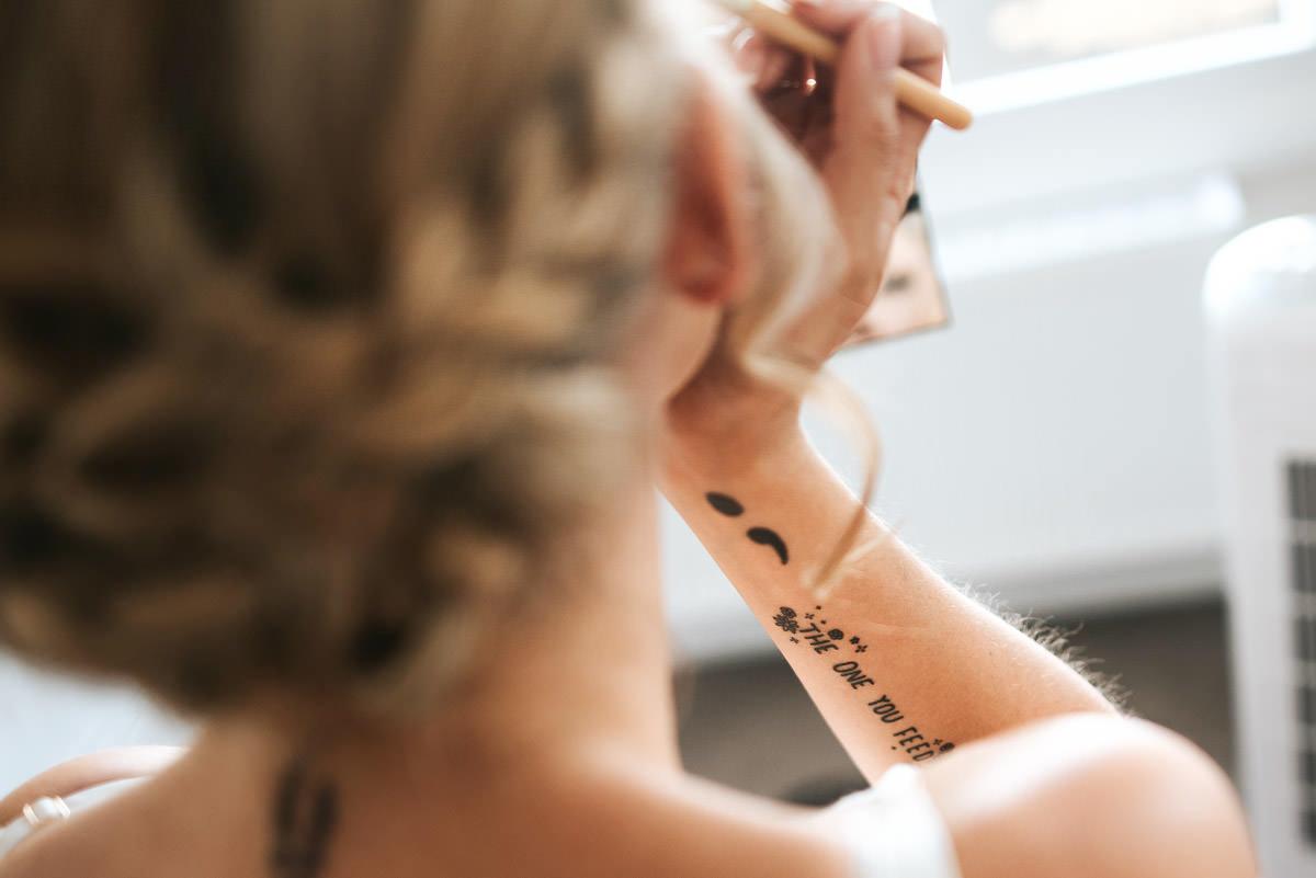 islington town hall wedding photography brides tattoo