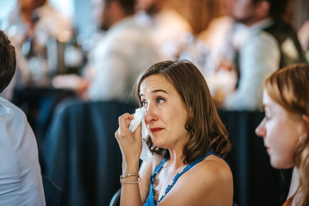 islington town hall wedding brookmill pub reception speeches reactions guest crying