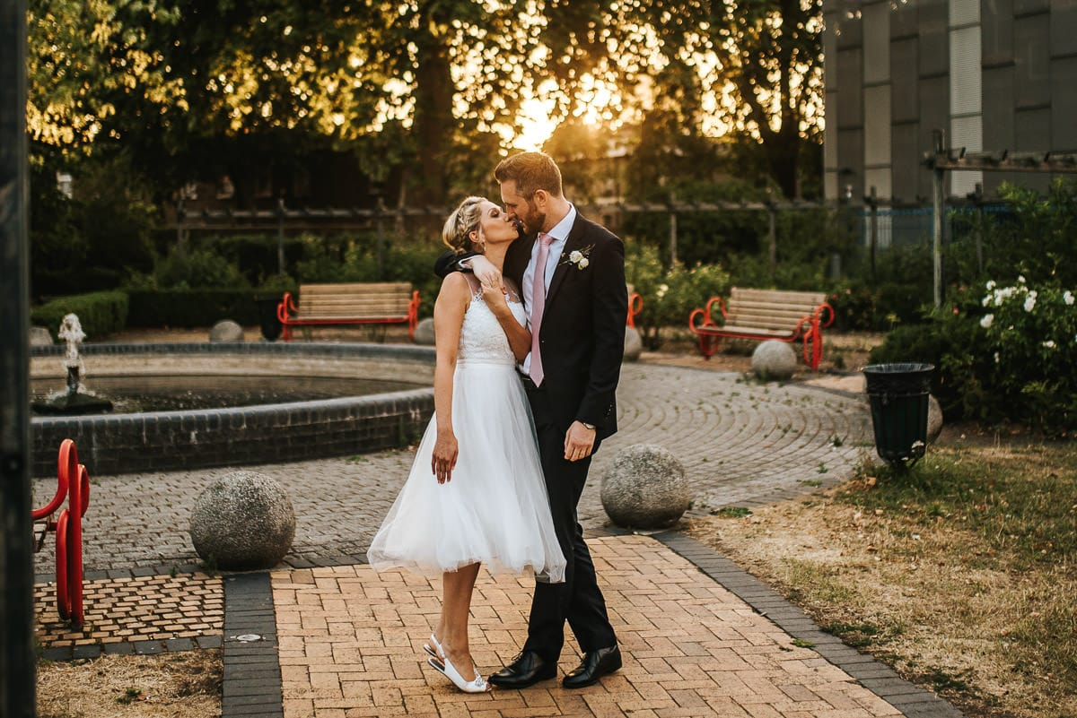 wedding brookmill pub reception afternoon couple shoot embracing