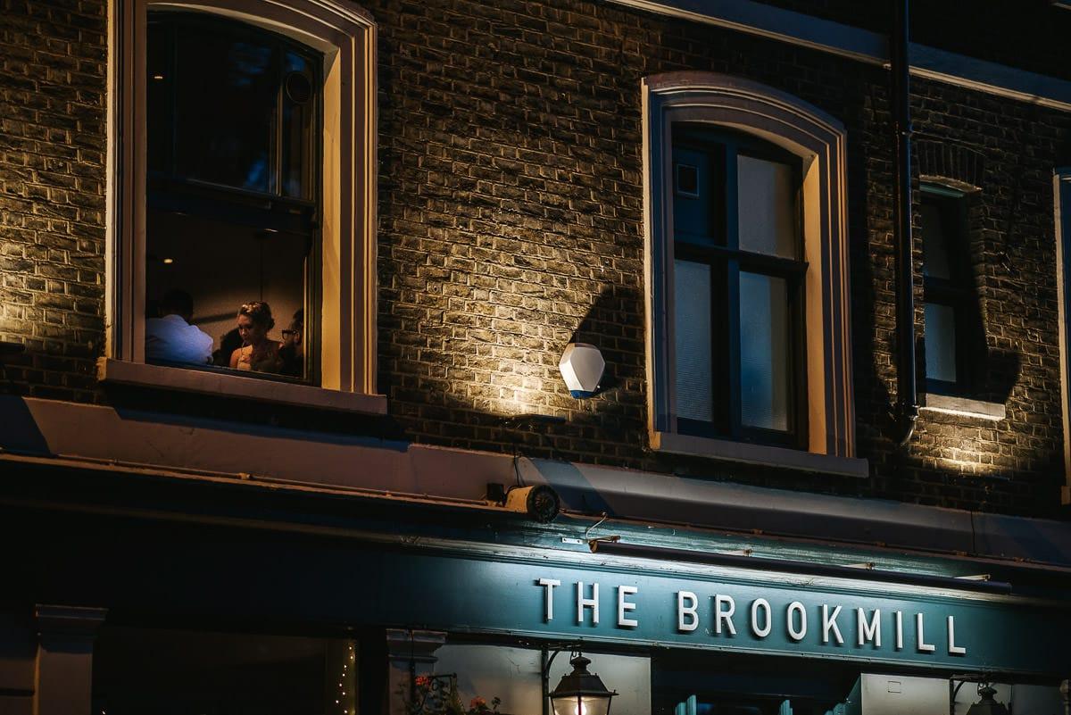 wedding brookmill pub reception outside the pub