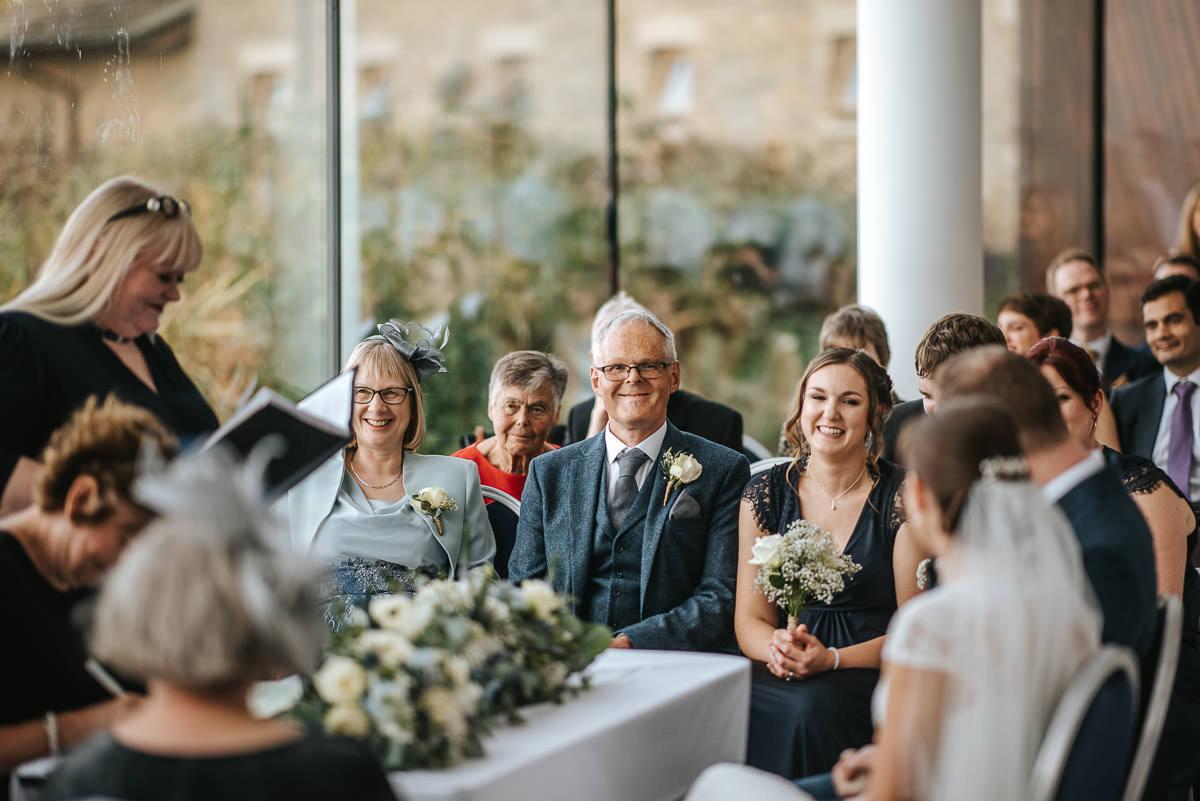 london wetland centre wedding proud parents smiling