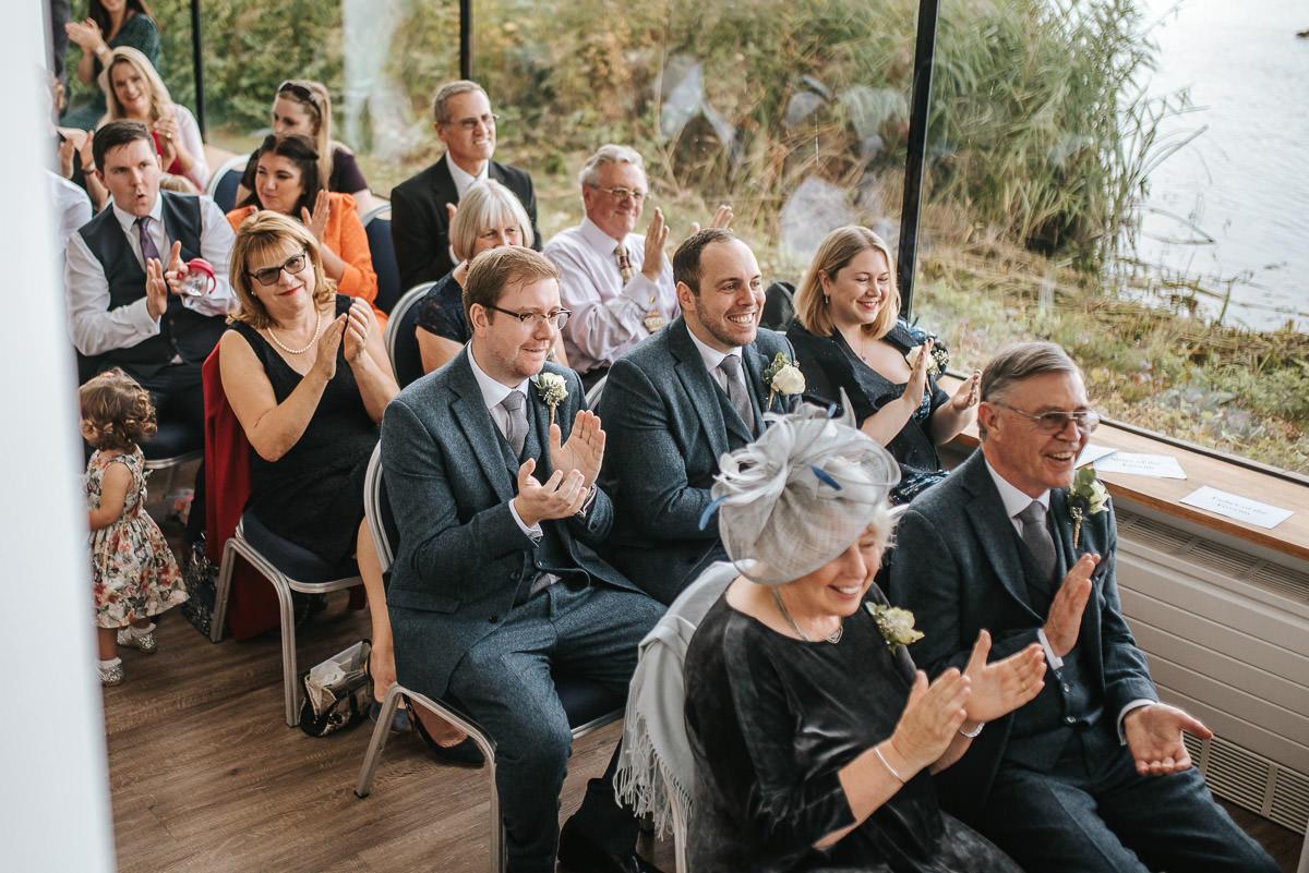 london wetland centre wedding ovations