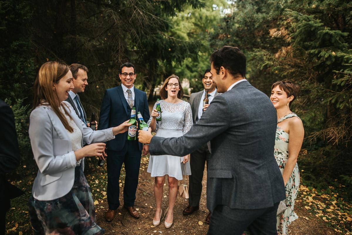 london wetland centre wedding beer drinking