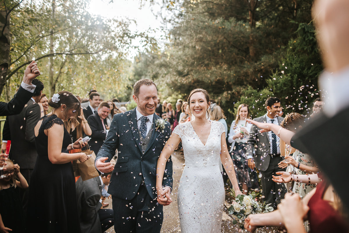 london wetland centre wedding confetti throw