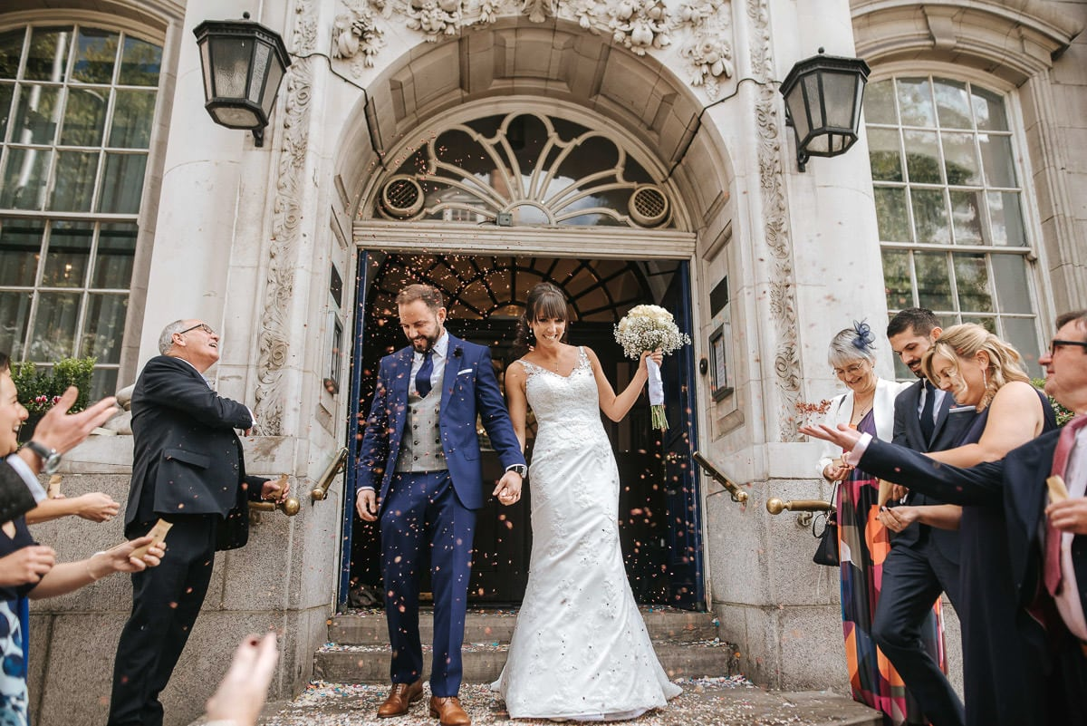 chelsea old town hall wedding confetti