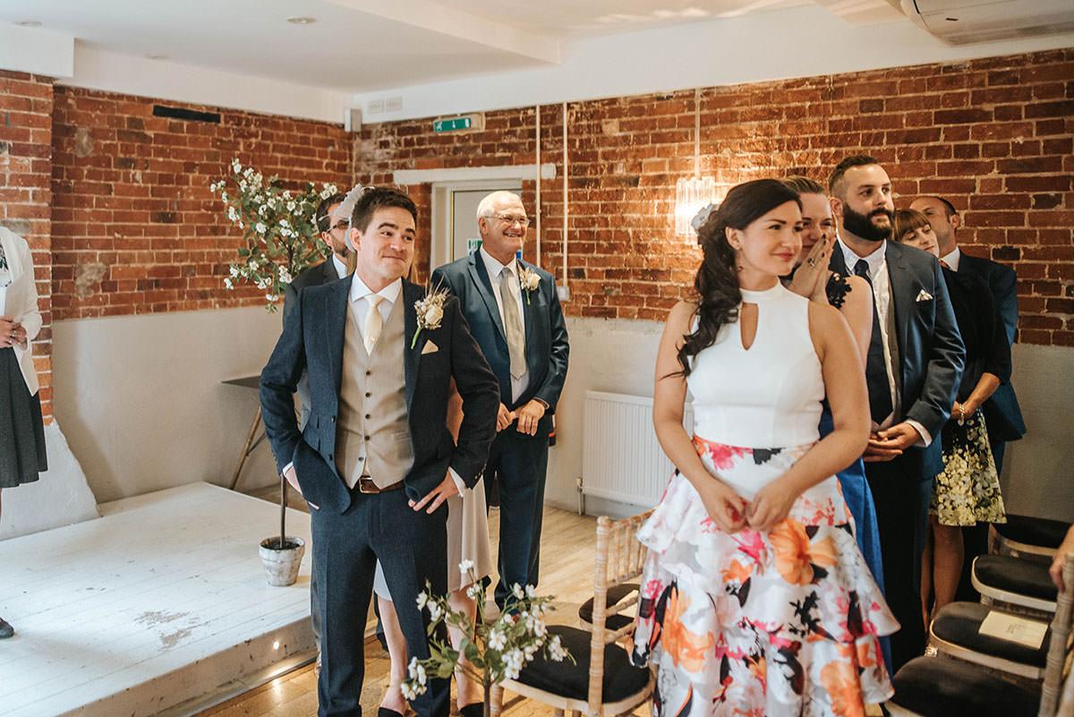 sopley mill wedding ceremony grooms reaction