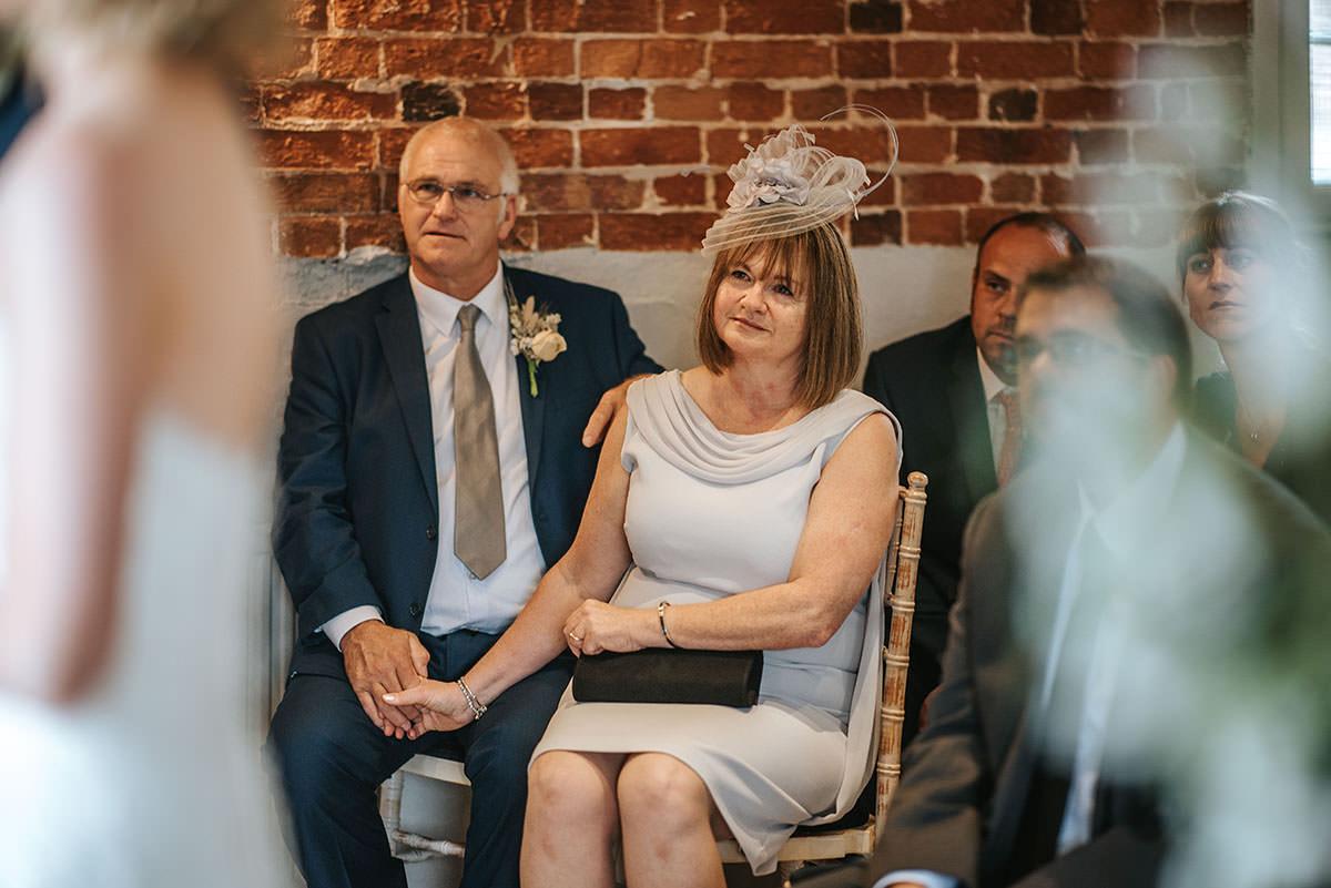 sopley mill wedding ceremony gusts