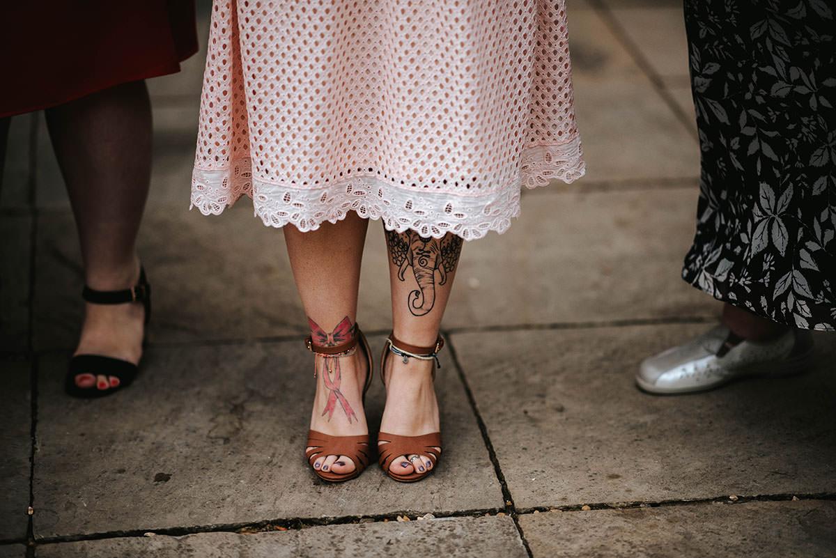 sopley mill wedding drinks reception tatoos