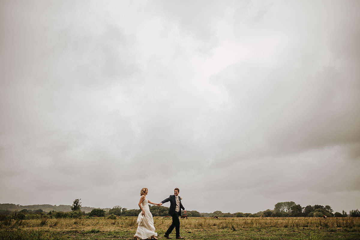 sopley mill wedding bride and groom shoot