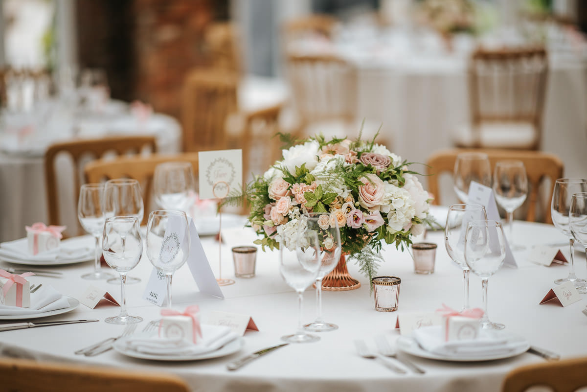 northbrook park wedding tables