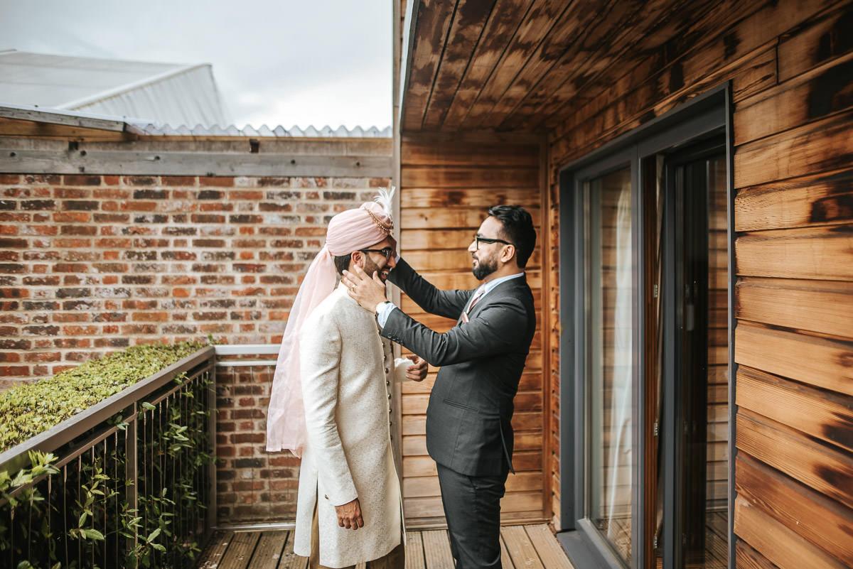 northbrook park wedding groom getting ready