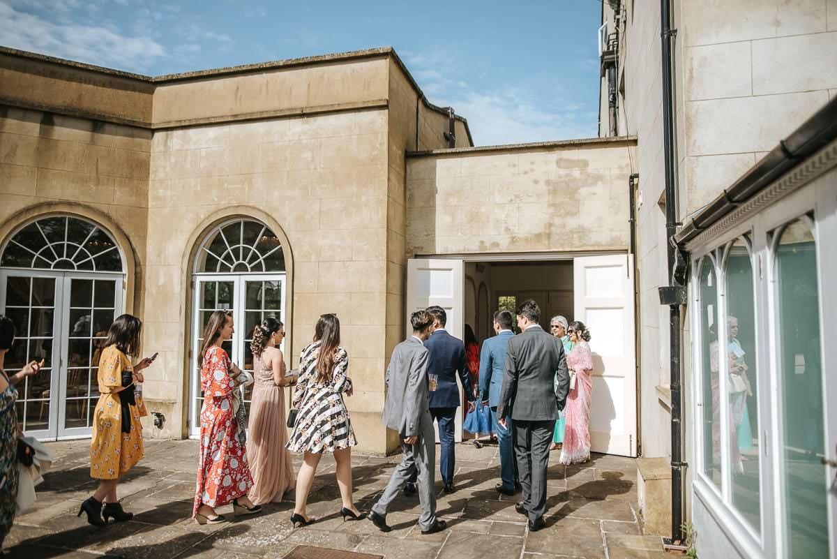 northbrook park wedding guests talking