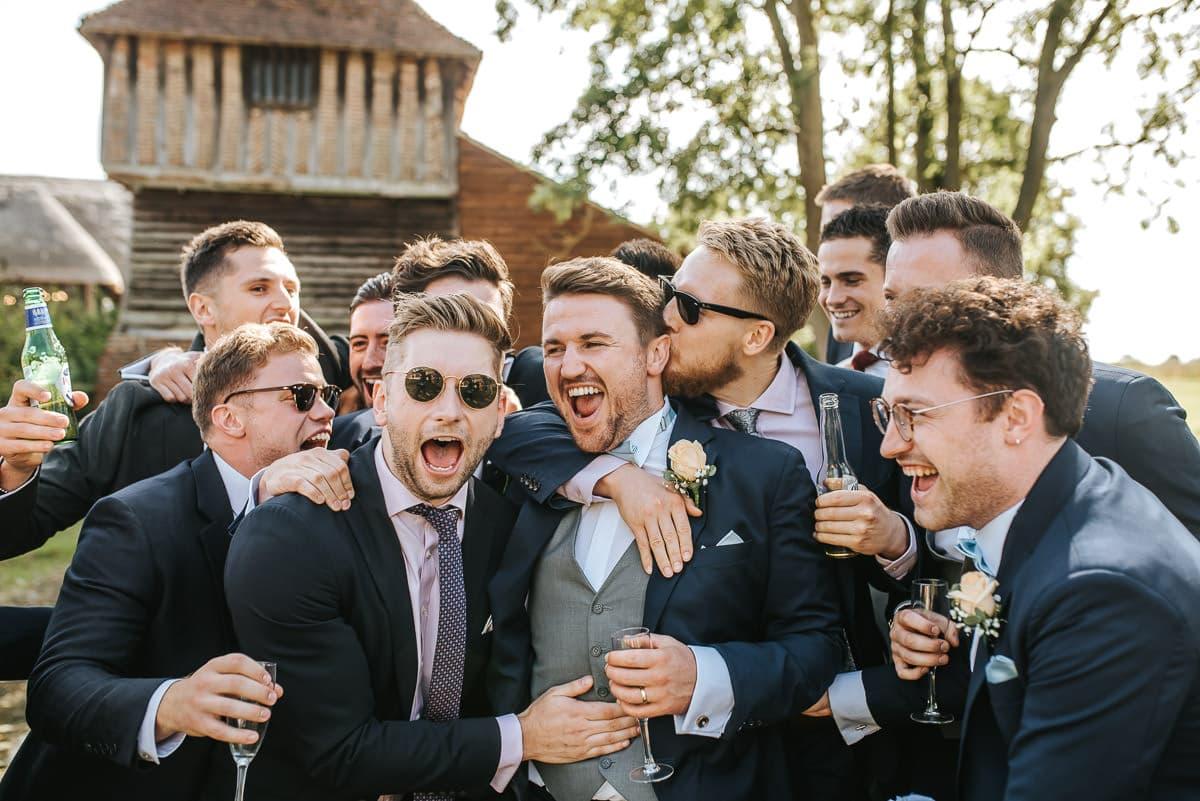 colville hall wedding guests having fun