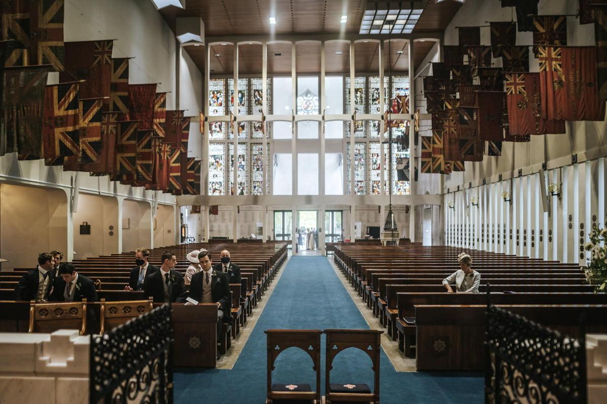 guards chapel wellington barracks wedding